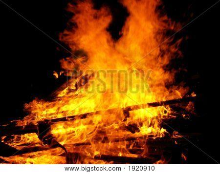 Big Bonfire In The Night