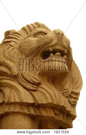 Lion Statue In China