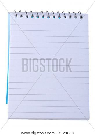 Lined Note Pad With Spiral Binding.