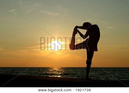 Yoga Silhoette