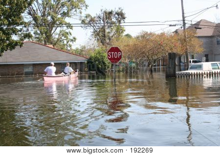 Hurrikan Katrina in New Orleans flood