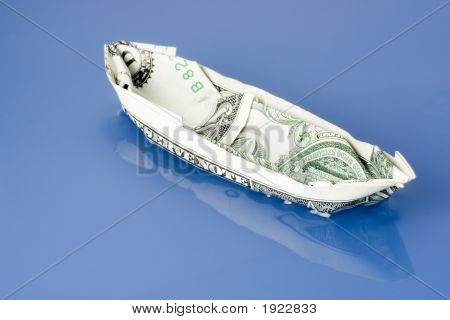 Dollar Note Paper Boat