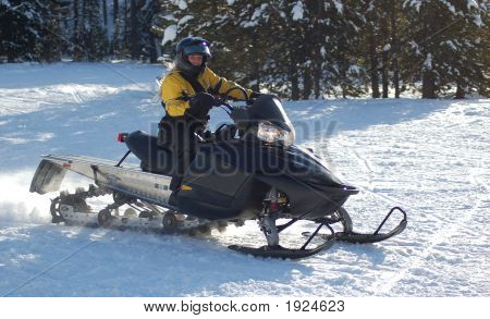 Girl Snowmobiling