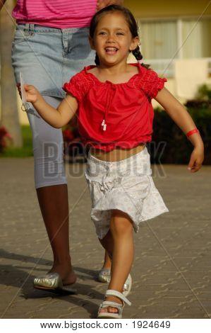 Happy Child And Key