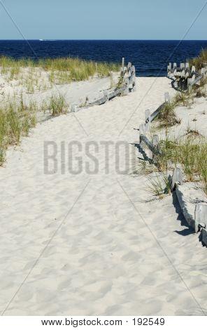 White Sand Path To The Beach
