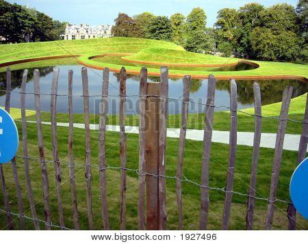 Landscaped Garden Outside The Dean Gallery, Edinburgh, Scotland