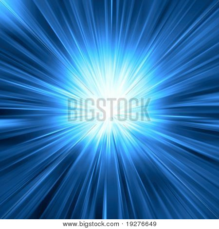 Blue light burst