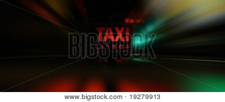 Fast taxi in the night