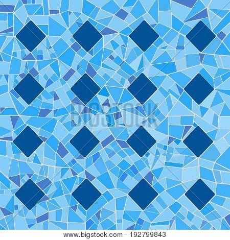 Illustration of broken tiles in a blue mosaic pattern.