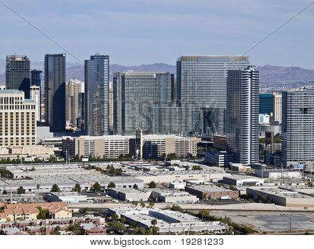 LAS VEGAS, NEVADA - SEPTEMBER 12:  Newly opened mega development City Center dramatically modernizes the skyline on Sept. 12, 2010 in Las Vegas, Nevada.