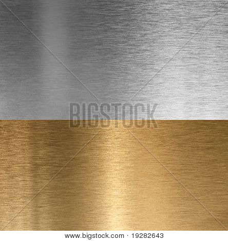 Aluminum and bronze stitched brushed textures