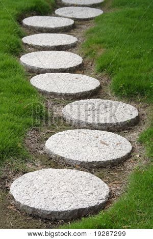 A stepping stone walkway