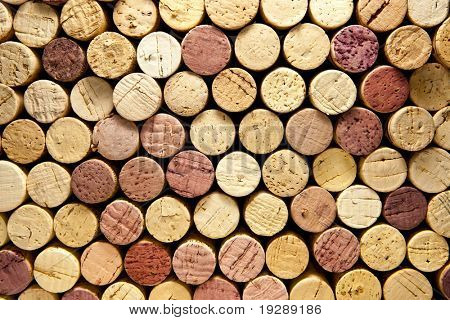 Stack of Wine Corks Horizontal