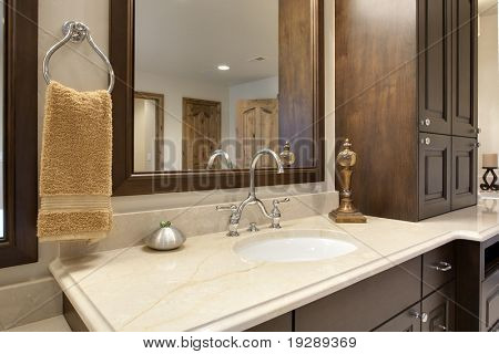 Bathroom Counter Detail
