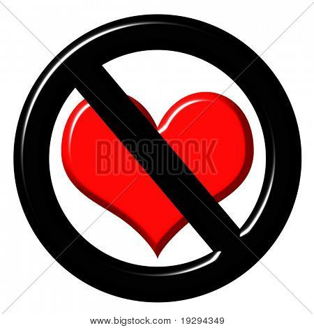 3d anti love sign