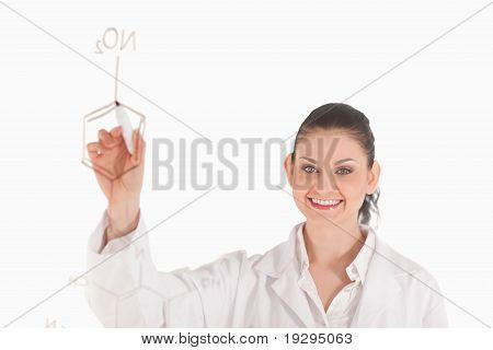 Dark-haired scientist