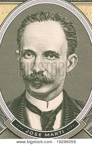 CUBA - CIRCA 1986: Jose Marti on 1 Peso 1986 from Cuba. Cuban national hero who fought against Spanish and later USA. He was also an important figure in Latin American literature.