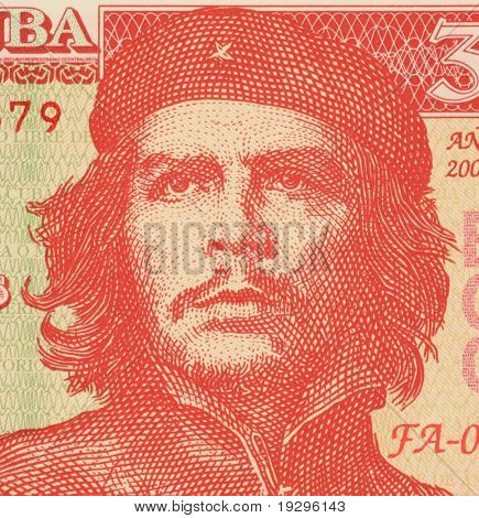 CUBA - CIRCA 2004: Ernesto Che Guevara on 3 Pesos 2004 Banknote from Cuba. An inspiration for every human being who loves freedom.