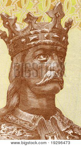 MOLDAVIA - CIRCA 2006: Stephen III of Moldavia (1432-1504) on 1 Leu 2006 Banknote from Moldavia. Prince of Moldavia during 1457-1504 and the most prominent representative of the House of Musat.