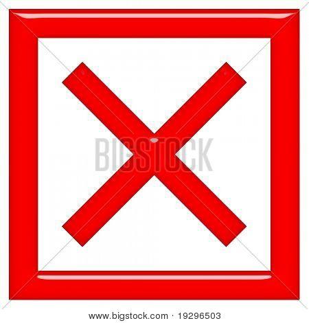 3d framed X sign