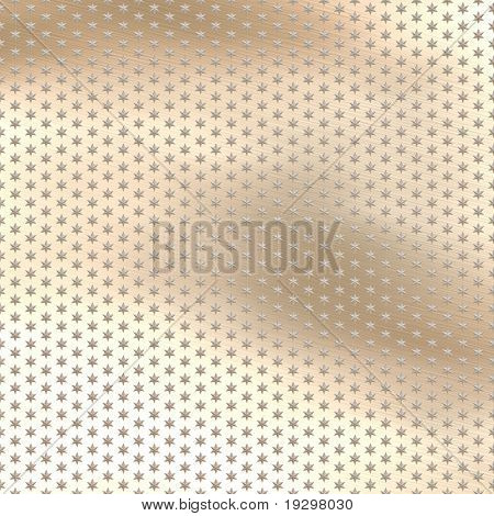 a large image of metallic stars on a lightly brushed metal background