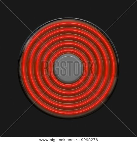simple large image of very hot hotplate