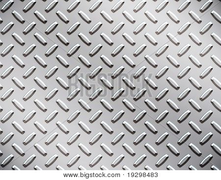 a large seamless sheet of alluminium or nickel diamond or tread plate
