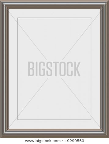 shiny metal frame with white matte for certificates, awards or photos