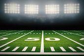 American Football Field poster