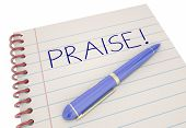 Praise Notebook Pen Compliment Recognition 3d Illustration poster