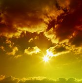 image of brighten  - Sunset sky - JPG