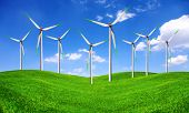 Eco energy - wind turbines farm
