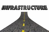 Infrastructure Word Road Construction 3d Illustration poster