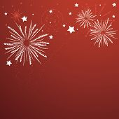 stock photo of guy fawks  - Rough texture firework bursts on graphical firework background in vivid red - JPG