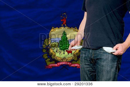 Recession Impact On Young Man And Society In American State Of Vermont
