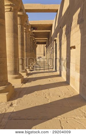 A Colonnade Of Ancient Columns At Philae Temple ( Egypt)