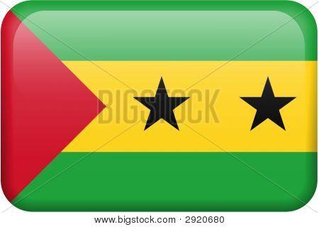 Sao Tome And Principe Flag Button