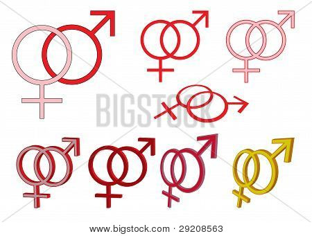 Set Of Gender Symbols