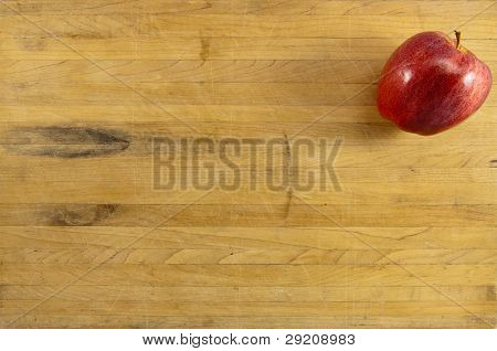 Delicious Apple On Cuttig Board