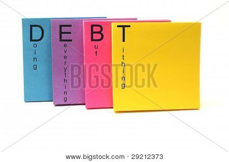 DEBT Sticky Notes
