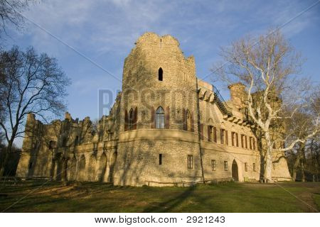 Castle Ruin Under The Blue Sky