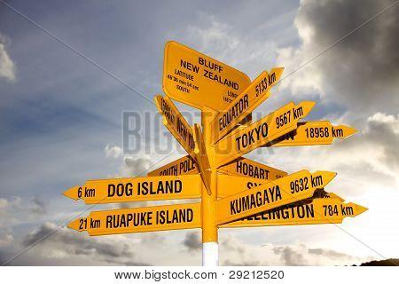 Blefar Marco Signpost, Nova Zelândia