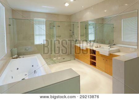 Modern Twin Bathroom