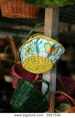 Wooden Baskets Hanging