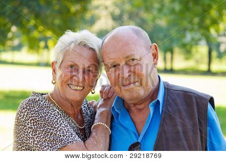 mature senior couple in love.
