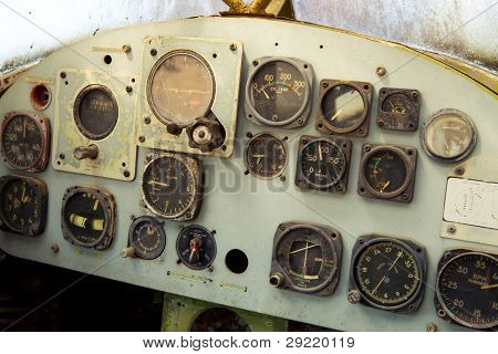 Old Airplane Cockpit