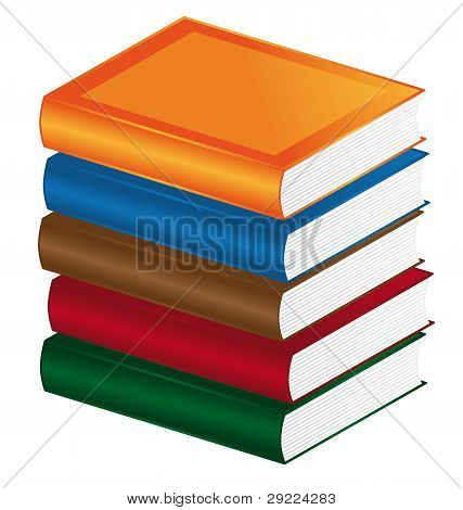 Colorful books.