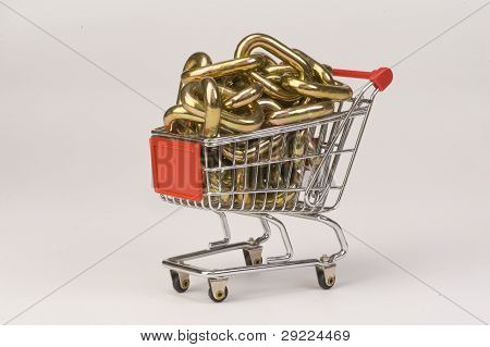 Gold Chain In basket.