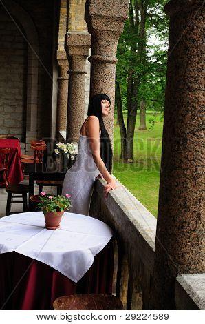 Beautiful Woman In Luxury Restuarant