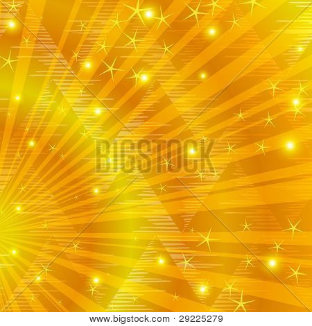 Gold background with beams